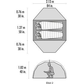 MSR Elixir 2 V2 teltta , harmaa/punainen